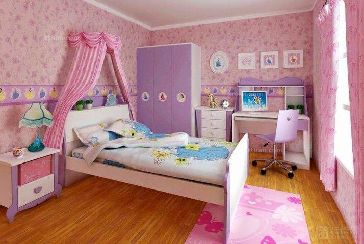 儿童房间卧室简笔画俯视