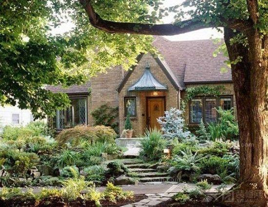 欧式别墅庭院图片