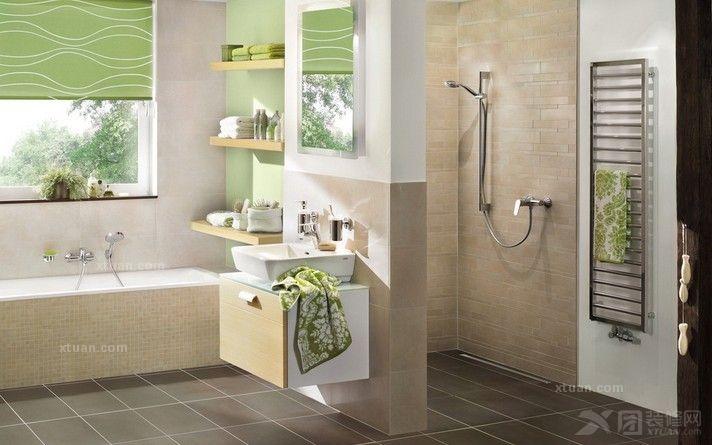 装修详解 > 卫浴装修_小空间卫浴如何装修  这间小卫生间里的浴室是以