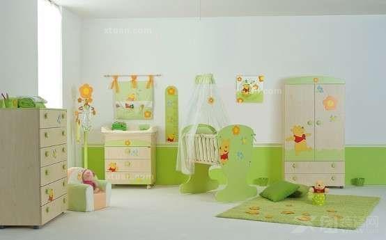 给宝宝甜美的 婴儿房墙纸贴图