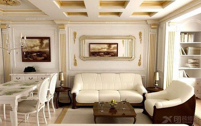 提升了客厅的欧式整体气质图片