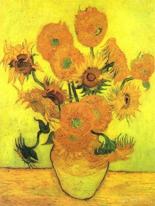 梵高油画作品欣赏--《向日葵》