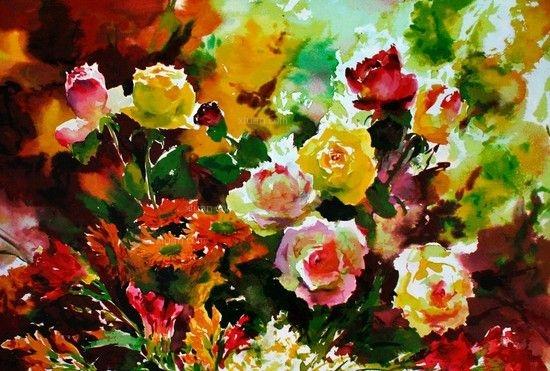 别样玫瑰人生 玫瑰花油画