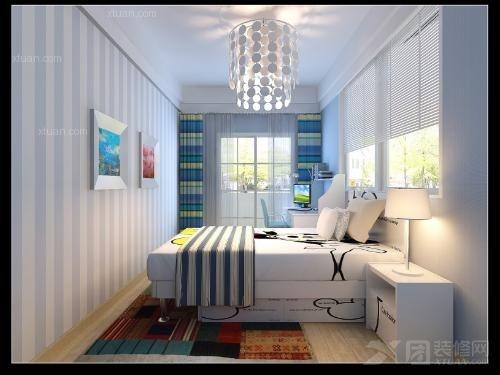 家居家装 装修详解 > 男孩房间装修效果图 男孩房间装修  这款卧室样