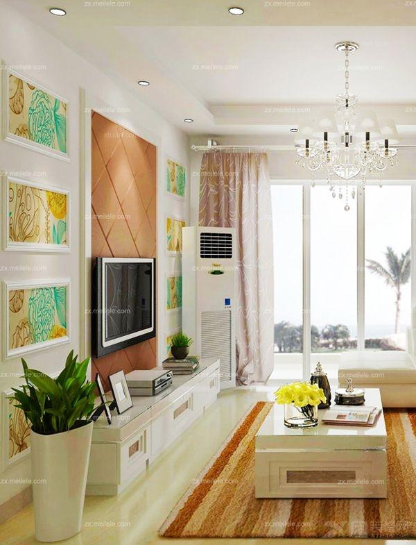 地中海异域风情下的客厅,类似红砖墙面的软装设计与各种不对称的