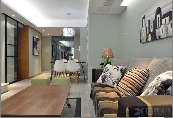 现代风格室内设计手绘线稿图与装修效果图