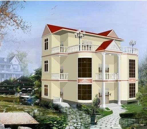 纯中式农村三层房屋设计感觉特别的亲切