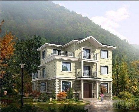 农村三层房屋设计图 农村三层楼房设计欣赏