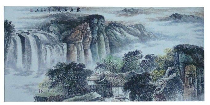 山水画十字绣图片欣赏