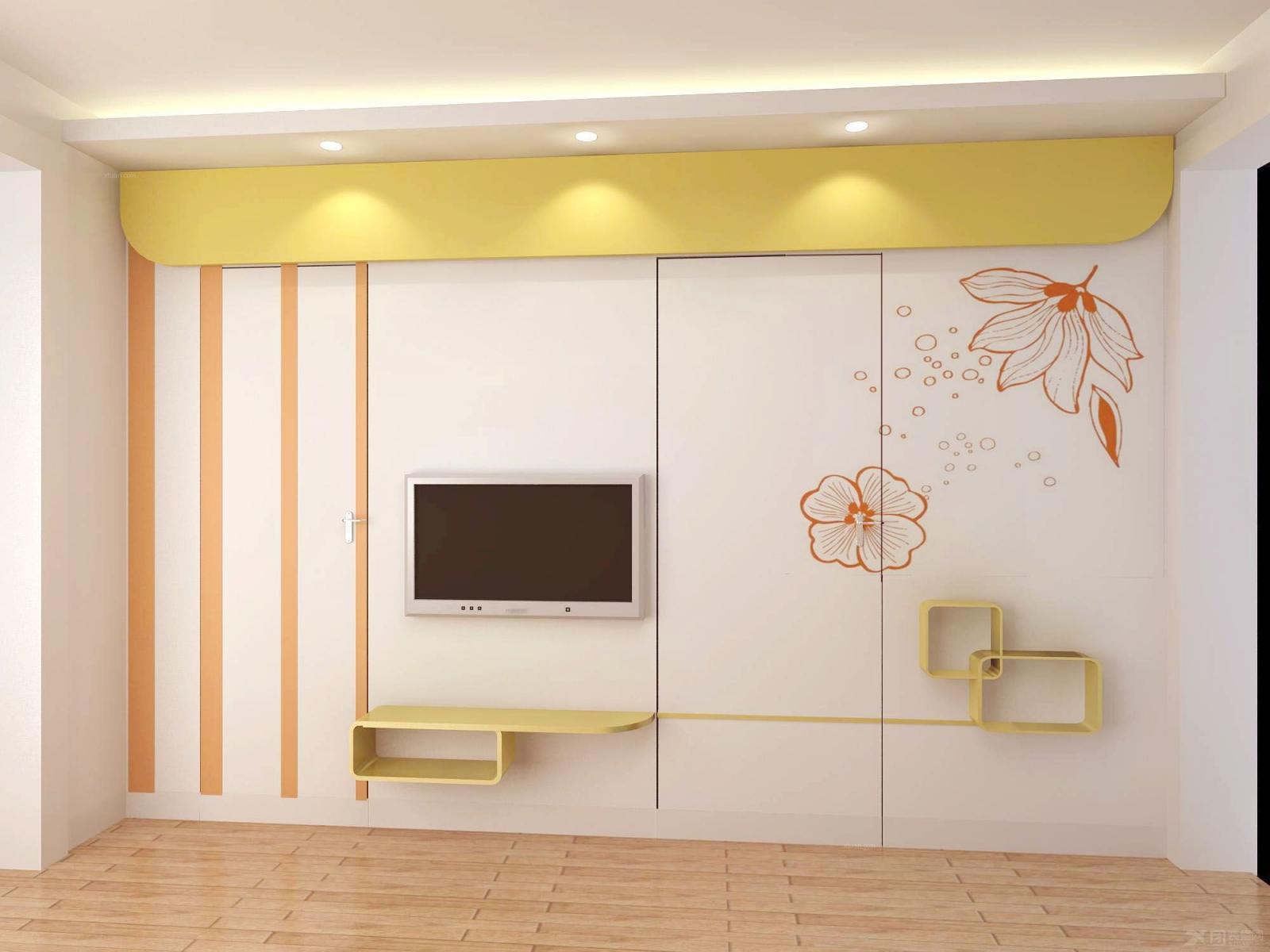 5款小清新客厅背景墙效果图