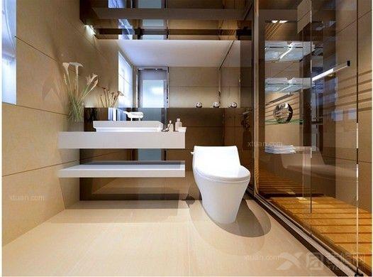 卫生间沐浴房效果图---复古
