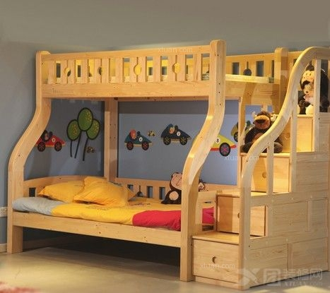 儿童高低床效果图-让宝宝睡得舒适