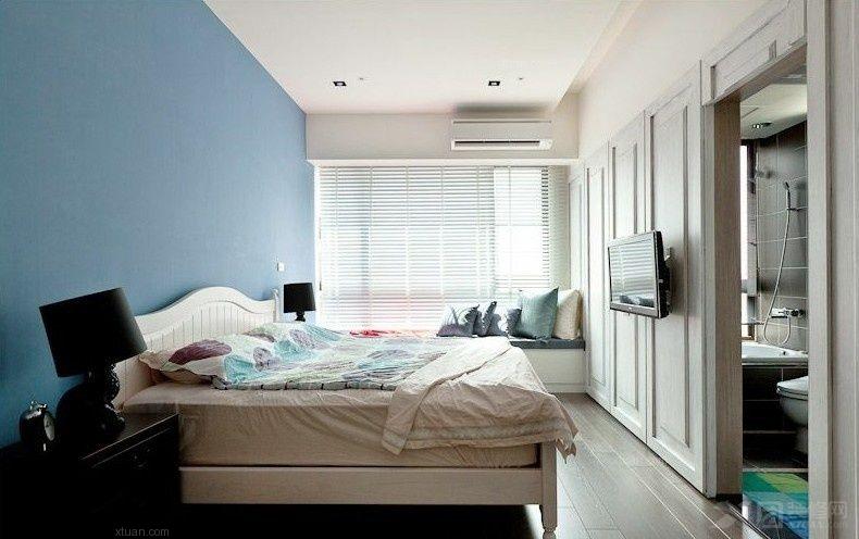 蓝色卧室装修效果图