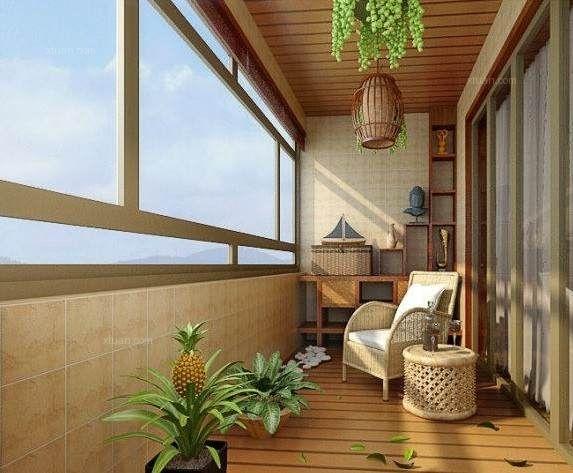 x团装修网 学装修 房屋装修 阳台装修 2014年打造浪漫的阳台餐厅实例