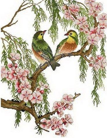 相思鸟十字绣图片欣赏-相思鸟十字绣价格介绍