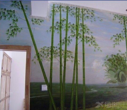 家庭餐厅田园风手绘壁画