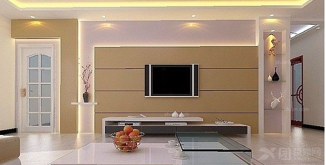 线条客厅背景墙成品线条电视背景墙图片6
