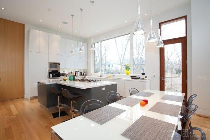 开放式厨房集成吊顶效果图图片