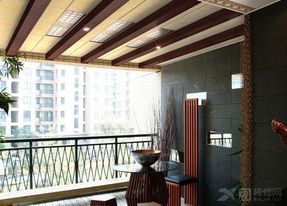 阳台吊顶材料推荐:桑拿板吊顶点缀阳台风景