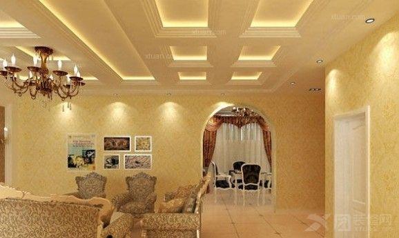 天棚斜顶装修效果图卧室天棚装修效果图图片5
