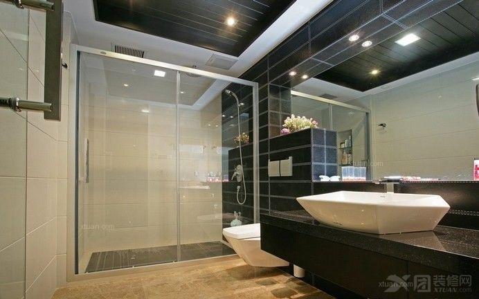 卫生间玻璃隔断效果图图片