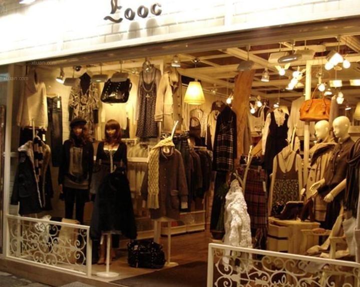 韩国复古女装店面装修效果图图片