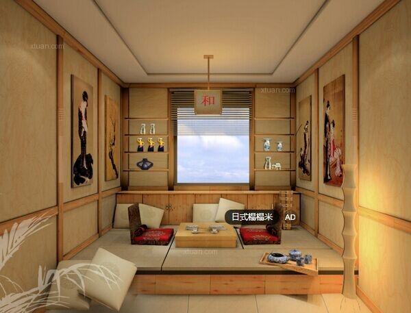 日式榻榻米卧室装修要点二:地台