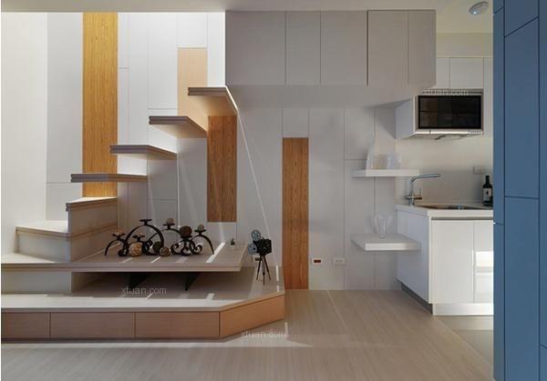 一般复式跃层或别墅中都会有复式楼梯的存在,尤其是跃层中打造一个复式楼梯就将大大增加整个居室的空间,同时又有效保持楼上卧室的私密性。复式楼梯是楼下与楼上楼层之间的连接通道, 要想将复式楼梯装修出与众不同的味道,楼梯空间的利用可是非常重要的。那么,如何装修复式楼梯呢?