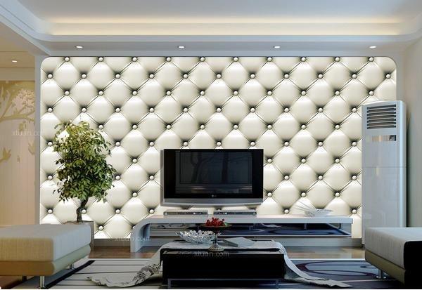 做电视背景墙是从去年开始流行起来的,一般都会将瓷砖和彩色玻璃搭配