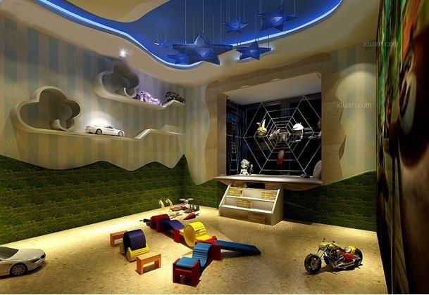 儿童房吊顶装修效果图