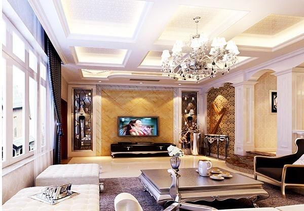 欧式花纹或者图案印刻在瓷砖上,组合成一面自己喜爱的欧式风格背景墙.