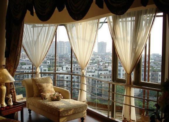 阳台窗帘怎么装