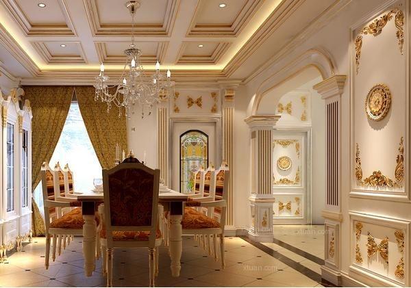 法式风格餐厅装修效果图