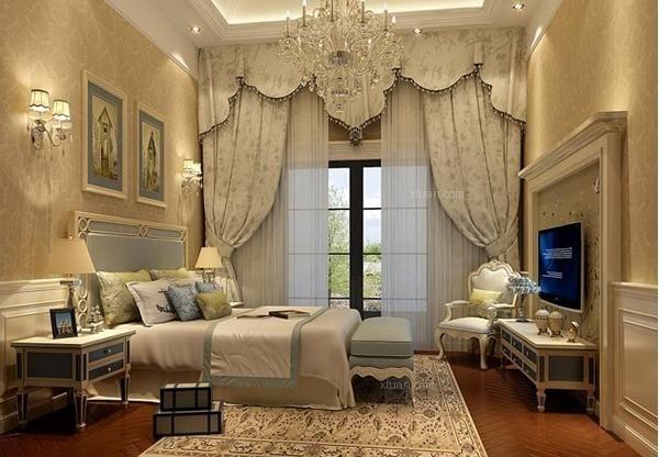 颜色比较深,那么选择同为深色系的欧式窗帘更好一些