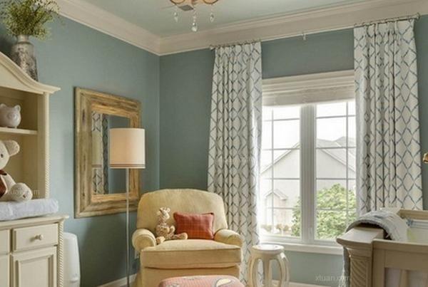 美式古典风格窗帘效果图图片