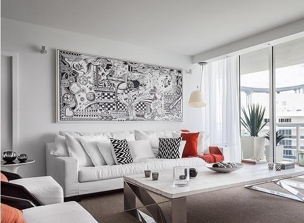 北欧风格背景墙效果图-x团装修网图片