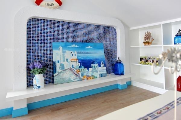 地中海风格电视背景墙效果图