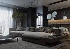 超酷的黑色系公寓效果图