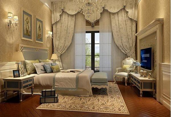 卧室欧式地毯搭配贴图图片
