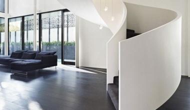 地中海风格复式楼梯扶手设计效果图