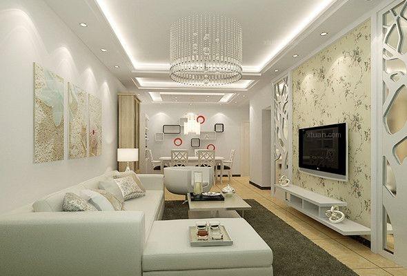 现代简约风格的客厅吊顶怎么设计