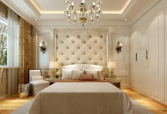 欣赏几款好看的欧式软包床头背景墙效果图案例图片