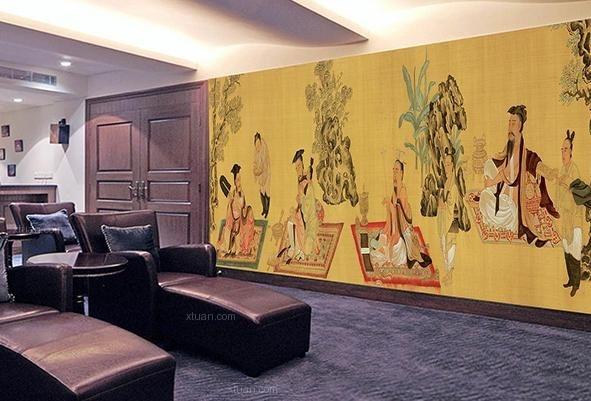 中式风格壁纸画要怎么搭配