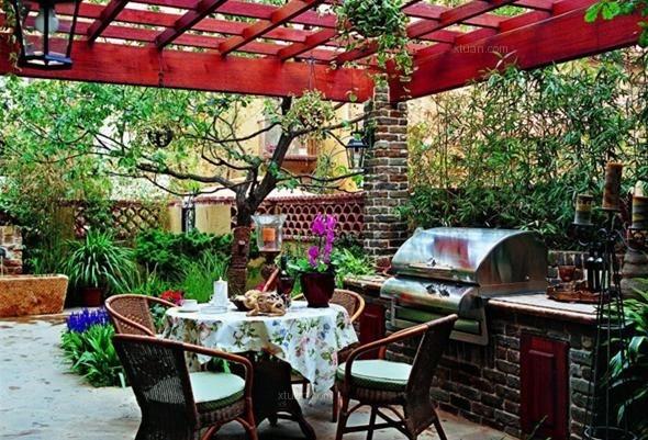 复古带有案例的美丽公园庭院设计别墅v案例天津别墅情怀长虹图片