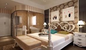 欧式风格按不同的地域文化可分为北欧、简欧和传统欧式。此案中设计师使整个空间偏重华丽的柔和与低调的奢华,加上复古的图案、华丽的面料以及细节上的装饰,表达出奢华的新内蕴。是欧式风格典型的代表作了,可以采用白色和比较跳跃的色调家具和配饰。在私密空间卧室的设计上面,设计老师采用个性为主,将主人最喜欢的事物放在卧室里面是最合适不过的了。