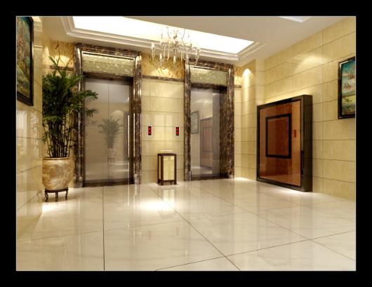 涵江华友第一城电梯厅装修效果图