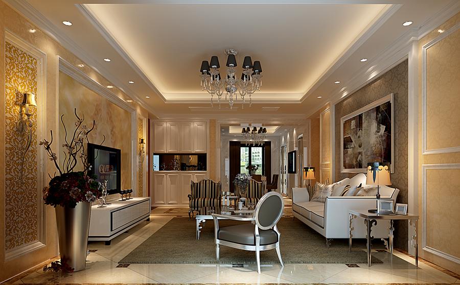 三室两厅巴洛克风格洗手间墙绘