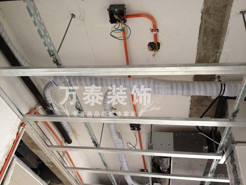 泰安国山墅施工现场电路改造阶段
