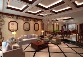 滇池卫城290㎡中式风格别墅造价45万