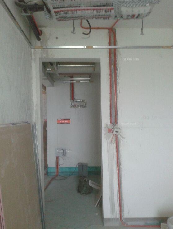 中海国际140平四居室水电路工程在线直播装修效果图